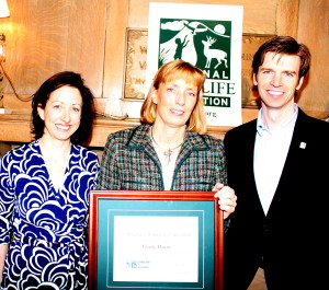 Hilary Falk, Cindy Dunn and Collin O'Mara. Photo by Grant LaRouche